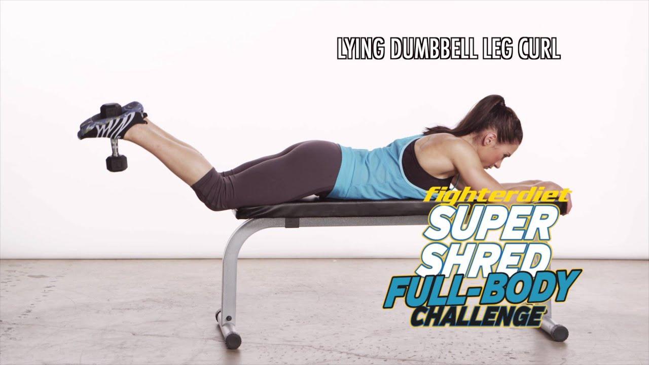 lying dumbbell leg curl youtube