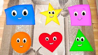 Learn Shapes and Colors with Shapes Song Nursery Rhymes & Children Music by Kids