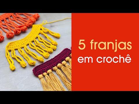 5 MODELOS DE FRANJAS EM CROCHE