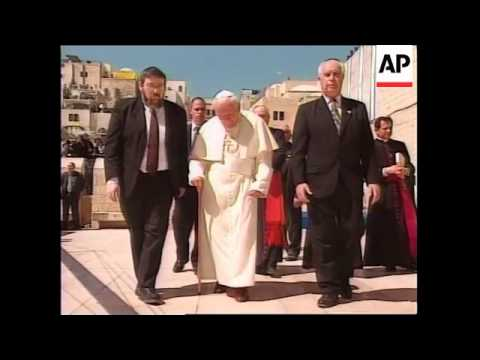ISRAEL: JERUSALEM: POPE JOHN PAUL II VISITS SACRED SITES