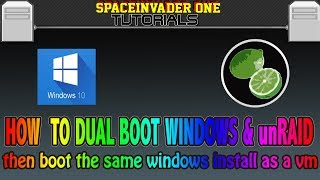 How to dual boot baremetal windows and unRAID then boot the same windows as a vm