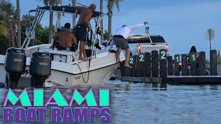 LEAP OF FAITH AT 79st BOAT RAMPS!! | Miami Boat Ramps