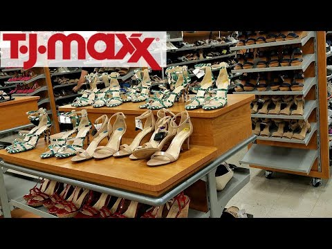Shop WITH ME TJ MAXX SHOES SNEAKERS SANDALS ADIDAS JESSICA SIMPSON COACH WALK THROUGH MAY 2018