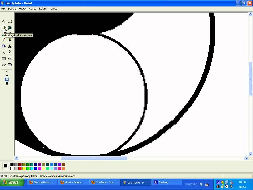 Jak Zrobi Symbol Yin Yang W Ms Paint Hd Youtube