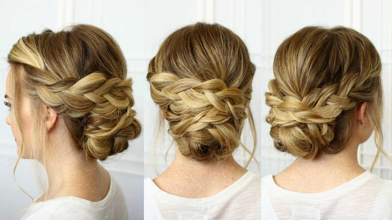 Soft Braided Updo Missy Sue Youtube