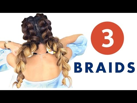 ★ 3 Ridiculous SUMMER HAIRSTYLES You Thought You'd NEVER Try | Cute Braids & Bun Hairstyle