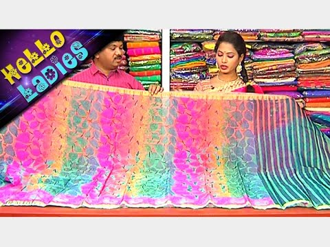 Latest Collections of Party Wear Kashmiri Work Tussar Silk Sarees || Hello Ladies || Vanitha TV