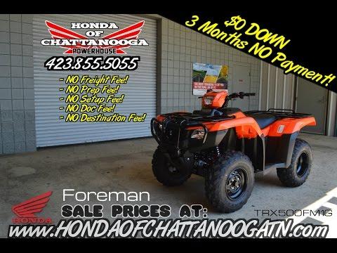2016 Honda Foreman 500 Manual + EPS ATV Review of Specs - Chattanooga TN PowerSports Dealer