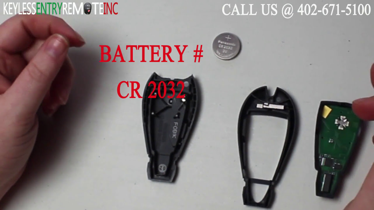 How to replace dodge challenger key fob battery 2008 2009 2010 2011