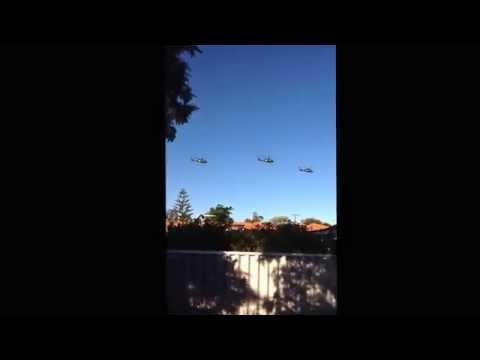 ADF Black Hawks over Perth 29/5/2014