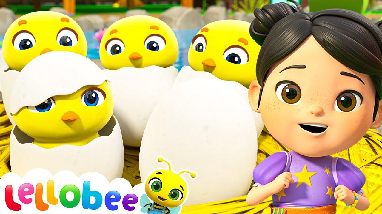 5 Little Ducks! | | BRAND NEW Lellobee: Nursery Rhymes & Baby Songs | Moonbug Kids