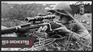 Sniping the Bridge - Red Orchestra 2 - Soviet Marksman Gameplay