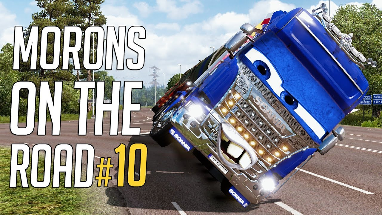 euro truck simulator 2 morons on the road 10 crash. Black Bedroom Furniture Sets. Home Design Ideas