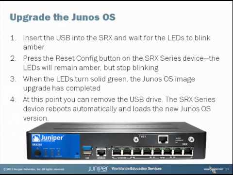 Juniper Learning Byte: Branch SRX Series: USB Autoinstall