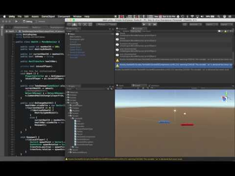 Unity 5 Multiplayer Networking Node JS socket.io Pt15