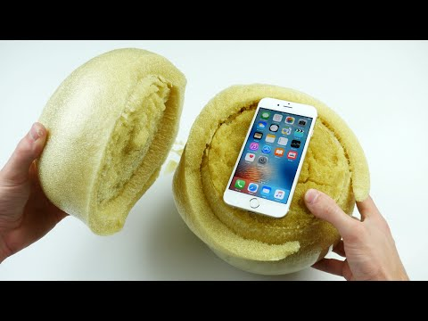 Don't Drop Your iPhone 6S in an Expanding Sponge Ball! videó letöltés