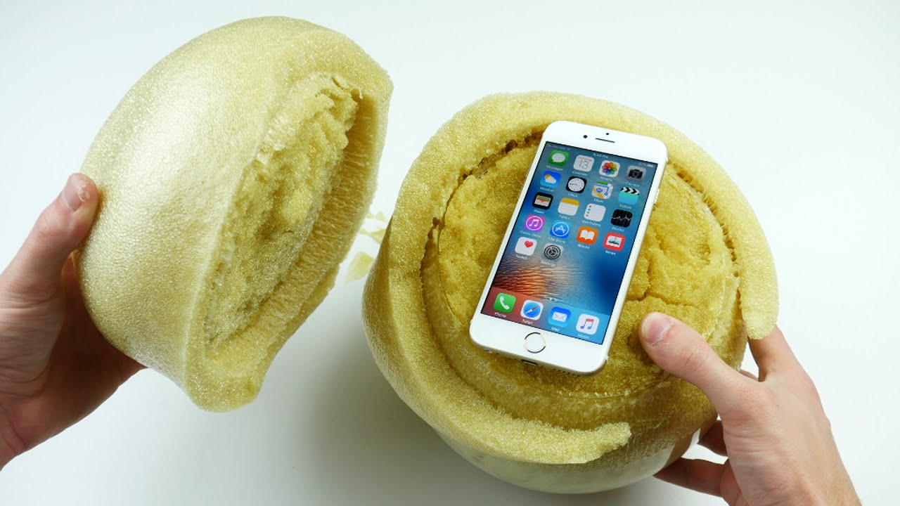 Don't Drop Your iPhone 6S in an Expanding Sponge Ball!