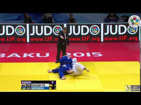 Judo 2015 Grand Slam Baku: Pakenyte (LTU) - Iaromka (UKR) [+78kg] final