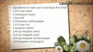 Secret Recipe - How To Make Joe's Crab Shack Rice Pilaf (copycat Recipes)