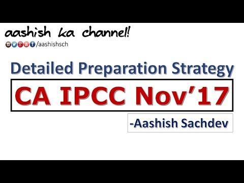 CA IPCC - November 2017 Both Group Detailed Study Plan (3 months)