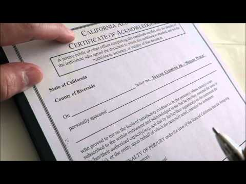 How to Complete a Notary Acknowledgement