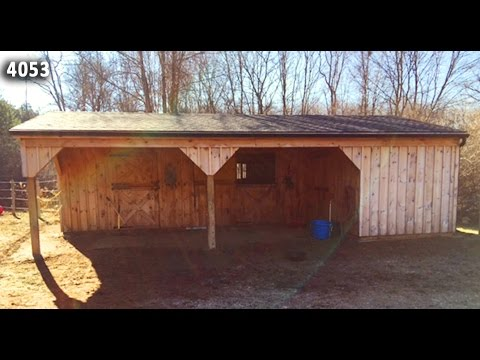 Customer Video Barn Tour:  10x32 Shedrow With 10' Overhang
