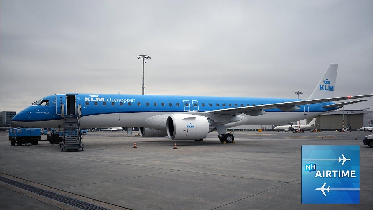 De nieuwe Embraer 195-E2 van KLM