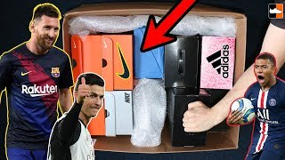 What Is In These Boxes Messi Boots + Ronaldo & Mbappe's Indoors