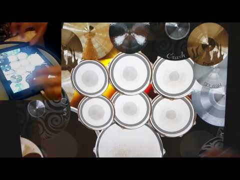 DragonForce - Through The Fire And Flames (iPad drum cover)