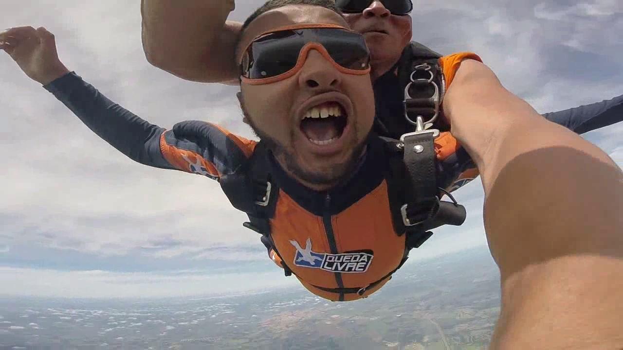 Salto de Paraquedas do Tiago A na Queda Livre Parequedismo 08 01 2017