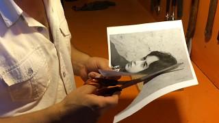 Parçalı ahşap resim yapımı. Tıransfer baskı yöntemi ile
