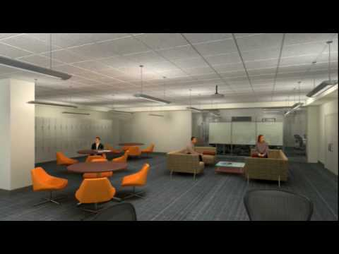 American University Library - New Graduate Research Center - Animations
