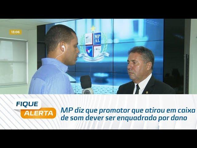 MP diz que promotor que atirou em caixa de som dever ser enquadrado por dano