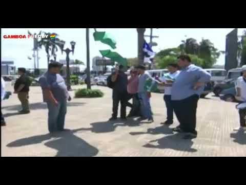 MAYTE FLORES FUE CONTRATADA POR EL MAS PARA REPARTIR BANDERAS.