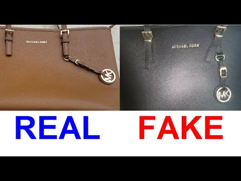 Real Vs. Fake Michael Kors Bags. How To Spot Counterfeit Michael Kors East West And Rock Chick.