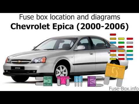 [SCHEMATICS_4FD]  Fuse box location and diagrams: Chevrolet Epica (2000-2006) - YouTube | Chevrolet Epica Fuse Box |  | YouTube