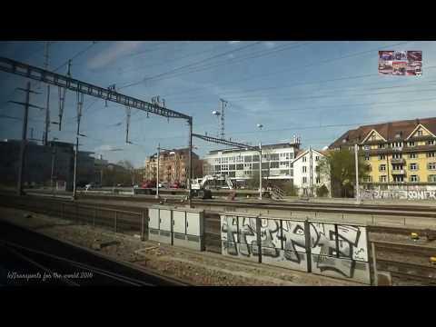 Traveling in Swiss Trains SBB CFF FFS -Zurich to Basel-