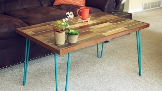 Purchase the table here! https://www.etsy.com/listing/279867608/hairpin-leg-reclai...coffee-table Video process on how I