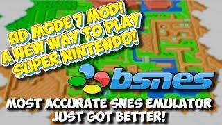 A New Way To Play SNES! HD Mode 7 Mod For BSNES Emulator & How To Setup!