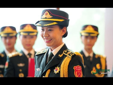 China Female guard of honor  in daily life