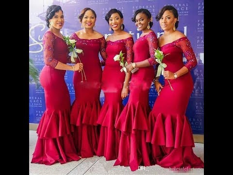 African Bridesmaids Dresses Designs 2018 Trend
