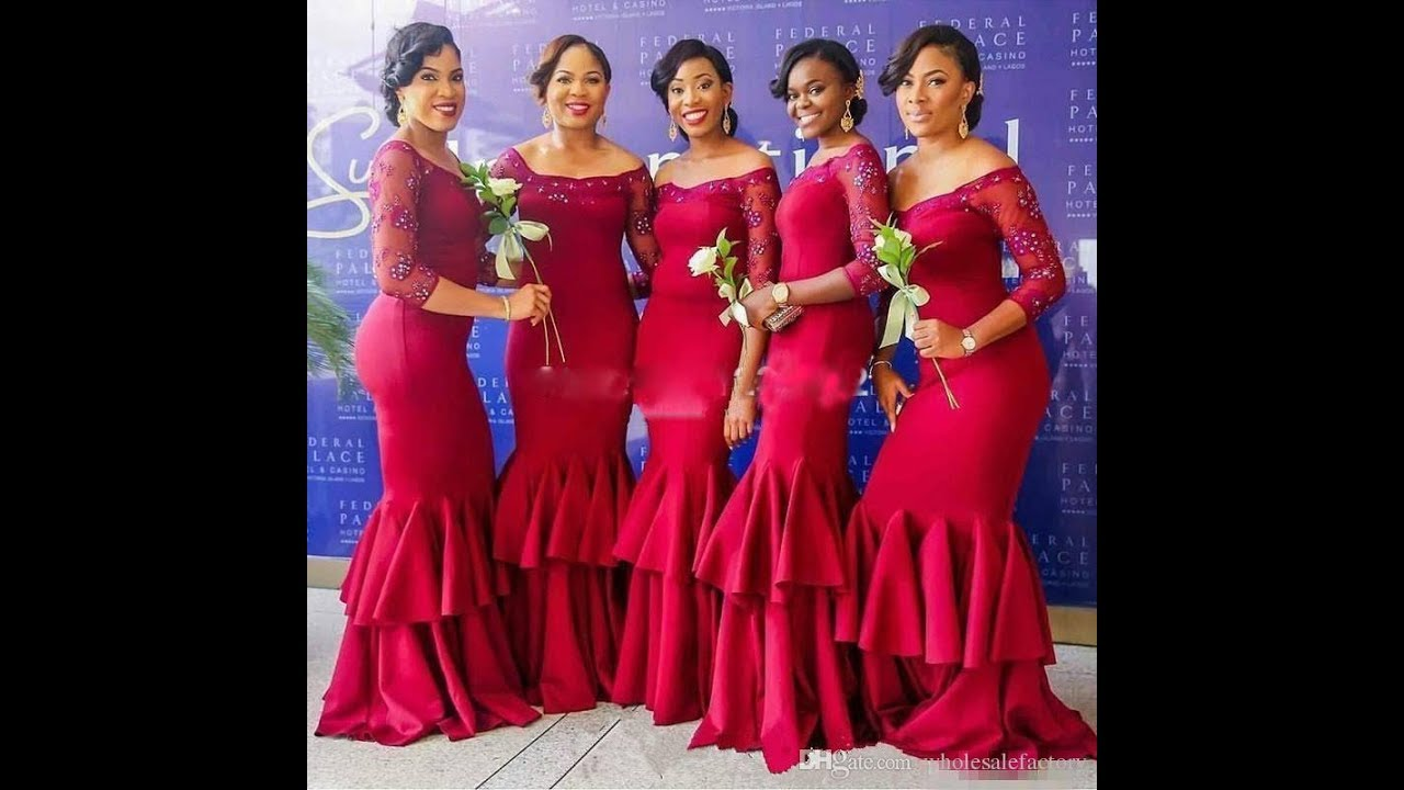 49fc27f3582 African Bridesmaids Dresses Designs 2018 Trend - YouTube