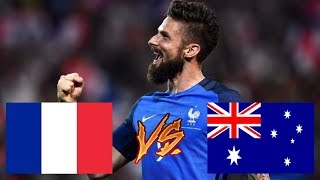 FRANCE VS AUSTRALIE 2-1 RÉSUMÉ COUPE DU MONDE 2018 *prognostic*