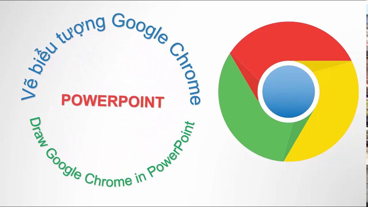powerpoint 2016 vẽ logo google chrome draw logo google chrome in