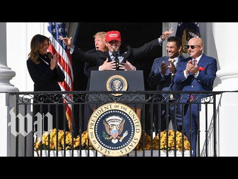 Kurt Suzuki wears MAGA hat, gets hug from Trump