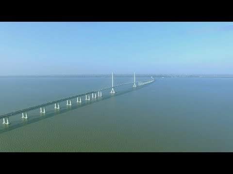 Shanghai Yangtze River Bridge上海长江隧桥航拍
