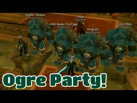 AQ3D Ogre Party With Players! | Ogreman The GameOgre & Drops/Items!