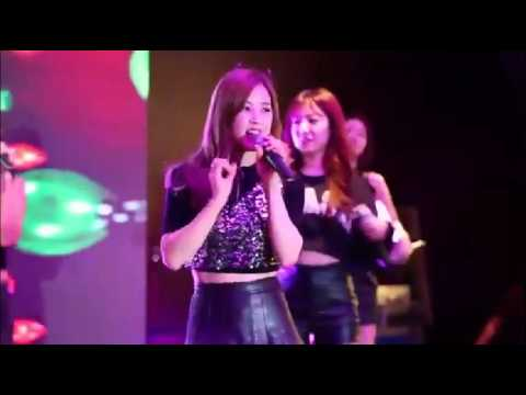 [KPOP] 에이핑크 Apink 'LUV' - Professional handling mistake (music stop during performance)