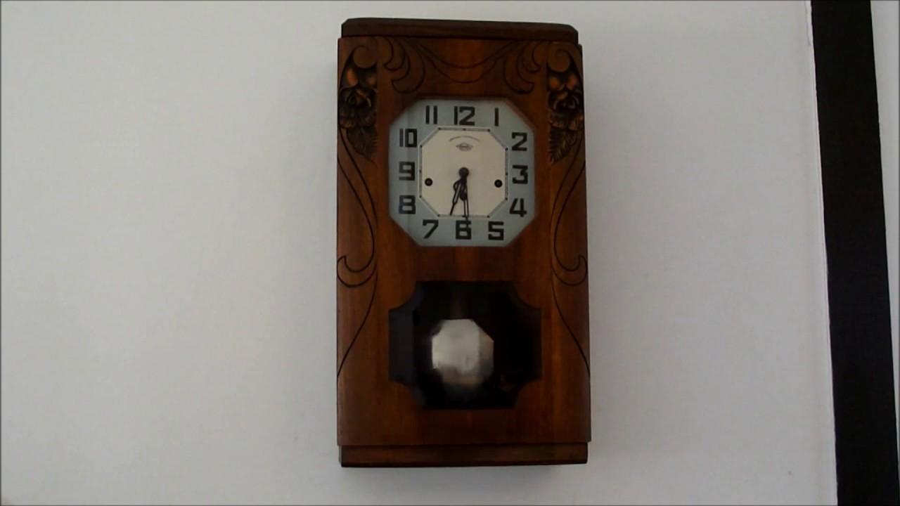 ancien carillon westminster irod sonne 12 coups minuit demi quarts d 39 heures horloge bois youtube