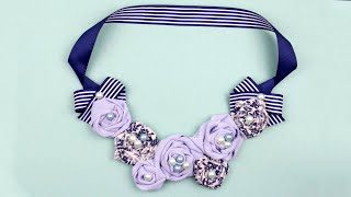 Download Video DIY Fabric Rose Necklace MP3 3GP MP4